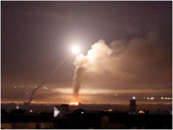 Israeli missile strike on Syria fails, Syrian army responds