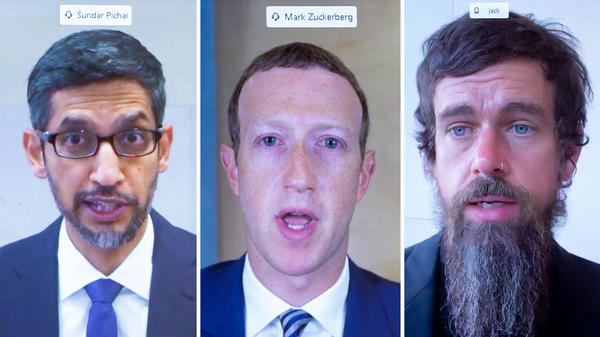 Zuckerberg, Dorsey, Pichai testify on misinformation, extremism in big tech