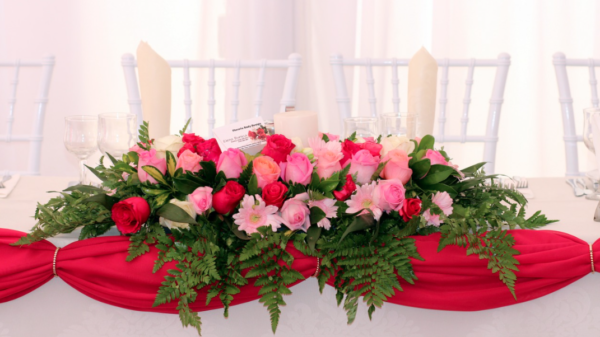 Flowers in an event