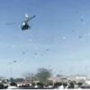 In Kotli, the bridegroom arrived by helicopter to pick up the bride