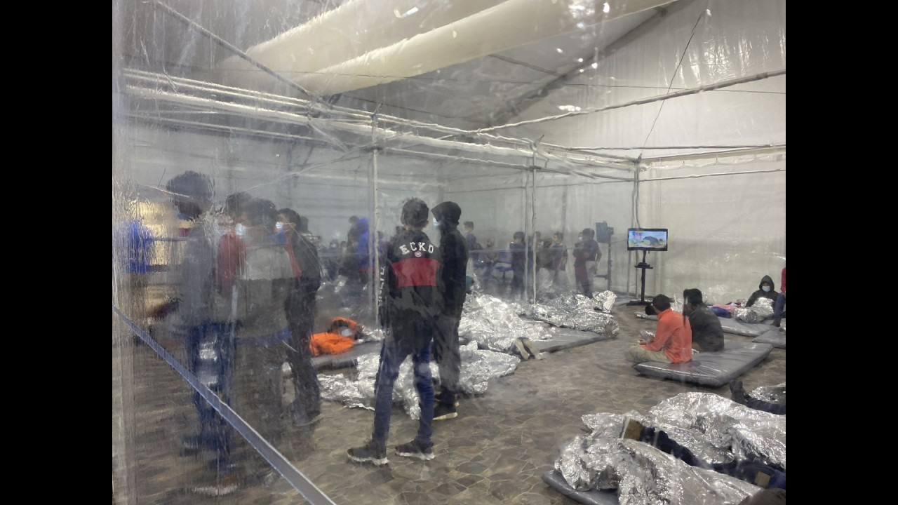 Inside look at where migrant children are staying along border