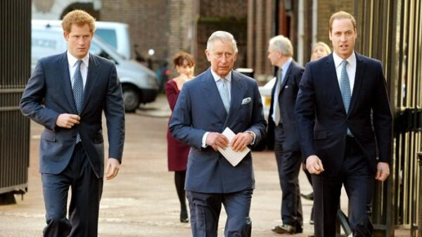 British Crown Prince Charles visits a London mosque
