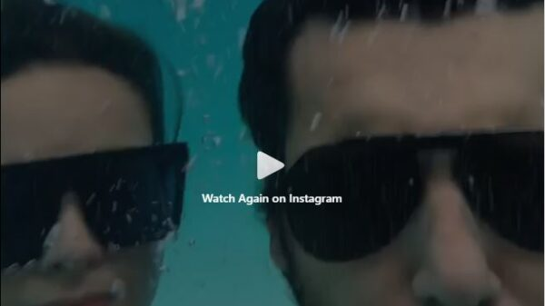 Criticism of viral video of Manal Khan swimming with his fiance Ahsan
