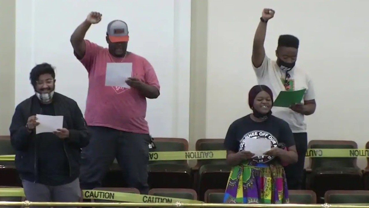 BLM protesters storm Oklahoma Capitol building over anti-riot bill