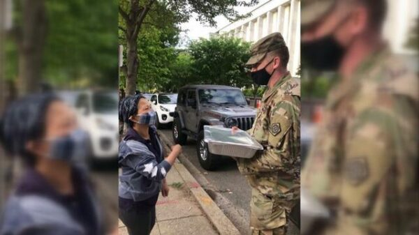 D.C. diner and locals donate food to National Guard troops