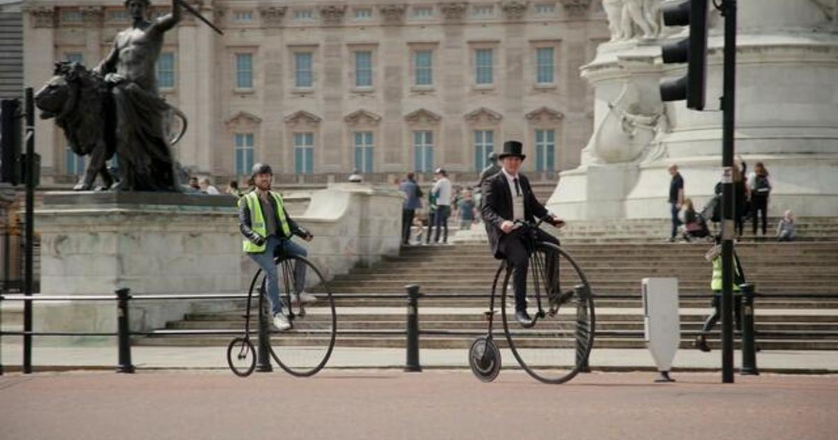 Penny-farthing bike makes a comeback during the pandemic