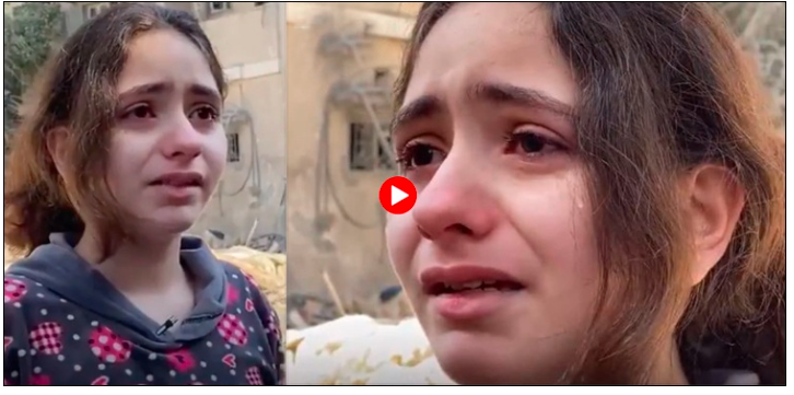 Gaza: The cry of a 10-year-old Palestinian girl made everyone cry