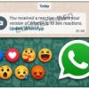 Preparing to offer 'Message Reactions' in WhatsApp